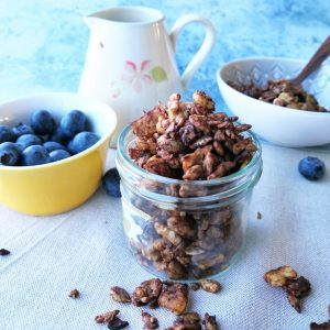 chocolate baked nut granola